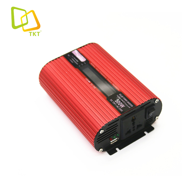TAKTE New Arrival 500W <strong>0</strong>.5KW 12Vdc To 120Vac Car Power Inverter Car Charger For Camping And Hiking With LCD Display