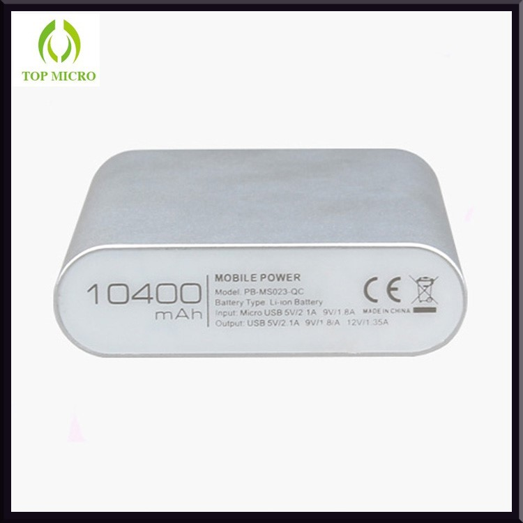 Fashion Portable 10400mAh Capacity QC2.0 Mobile Power Bank For Android Samsung
