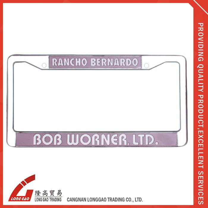 Metal Decoration Custom Colors Car License Plate Frame,material with chrome ,plastic,zinc alloy