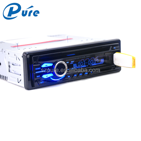 High Quality universal 1din cheap car dvd player fixed panel car radio system dvd player with usb sd fm radio