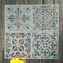 Laser Cut Painting Stencil Floor Wall Tile Fabric Wood Plastic Stencils,Plastic Small Wall Floor Stencil,6x6inch