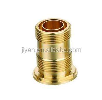 custom CNC precision turning brass bush/brass bushing with male thread and holes