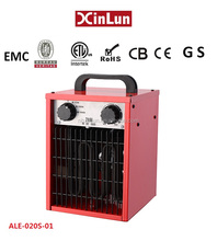 Portable electrical waterproof industrial fan heater with full metal casing