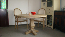 new design french wood dinner table round