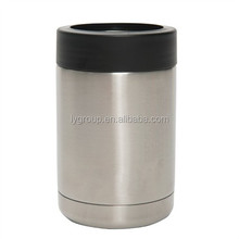 insulated vacuum stainless steel tumbler can cooler holder,350ml/12oz double wall insulated beer holder