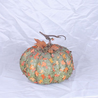 2016 metal pumpkin decoration dried pumpkin flakes halloween pumpkin