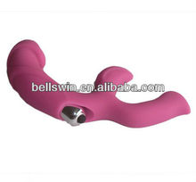 Female Silicone G Spot Vibrating Massager with Bullet