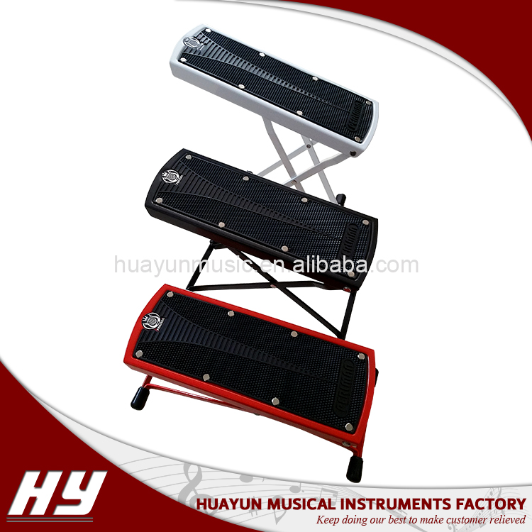 Factory manufactured adjustable guitar foot folding stool