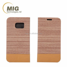 For iphone 6s Wood Texture pattern flip leather cover soft TPU inside with card slots Phone accessory For apple iphone 6 case