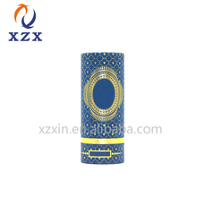 custom logo roll edge paper round cylinder cosmetics luxury gift box packaging