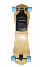 A Hot sale skateboard electric four wheel self balance skateboard with two engines and removable battery