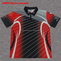 Cut and sew sublimation racing team pit crew shirts