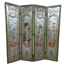 High-end luxury antique wood folding screen room divider with beautiful painting