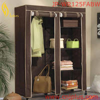 JP-WR125FABW Cheap Plastic Folding Cupboard Fabric Wardrobe For Kitchen Cabinet