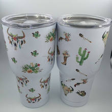 wholesale fashion cattle print 30oz stainless steel tumbler