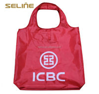 High quality reusable shopping bag with foldable pouch