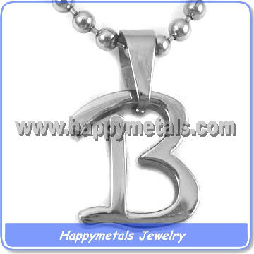 Design chain alphabet pendant P8712