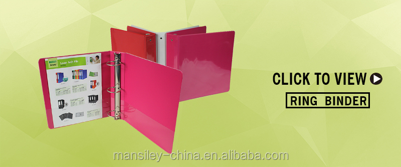 Mansiley Customized low price A4 PP/Paper Lever arch file