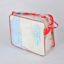 Best selling point zipper quilt packaging pillow plastic bag for mattress