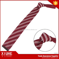 High Grade Red & white striped knitted tie