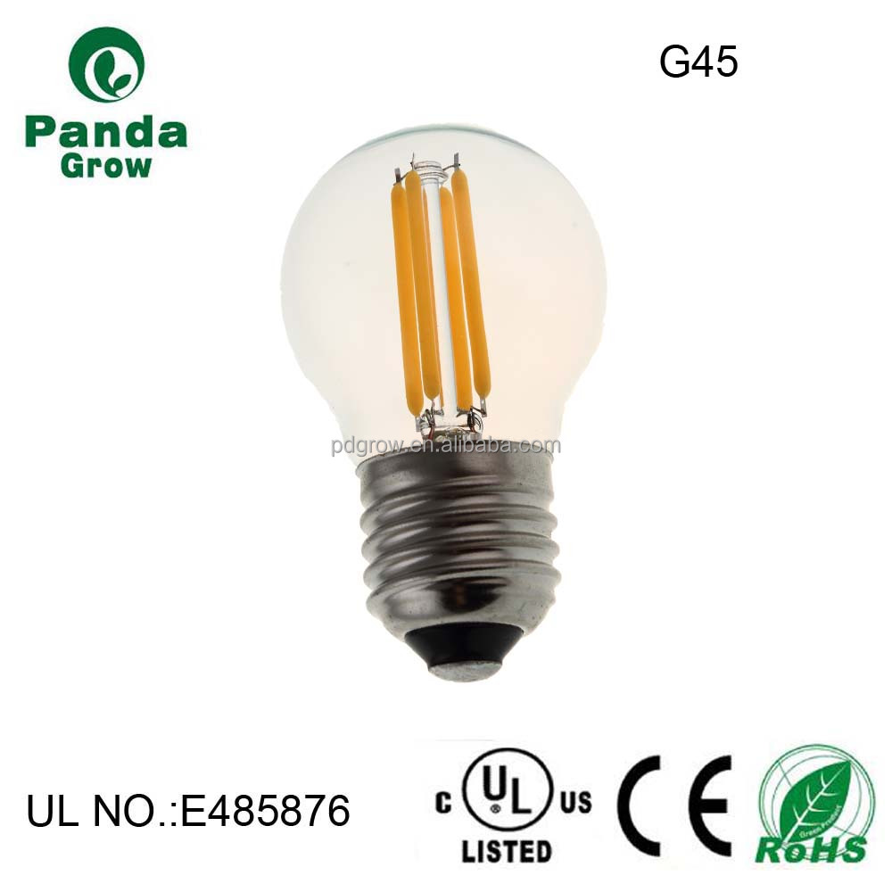 E26 E27 B22 E12 E14 Golfball G45 LED Filament Light Lamp Bulb 120V 230V 12V 24V