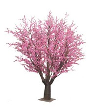 Yafei new artificial pink fake indoor cherry blossom trees made in china on sale