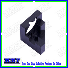cnc optical aluminum part of housing with black anodzing