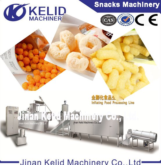 low cost high returns multi-function corn puff making machines