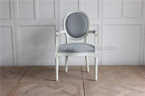 grey french style elegant decorative wooden dining chair
