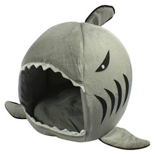 Shark Pet House with Removable dog Cushion Mat for Dogs and Cats