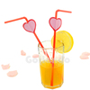 Plastic Cocktail Party Heart Shape Drinking
