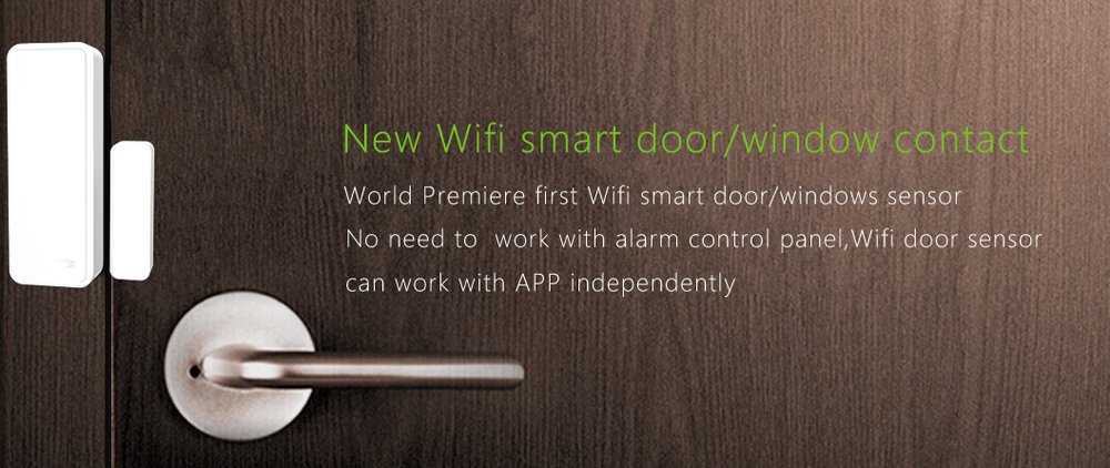 new products,2015 App control wifi door sensor gsm+pstn dual network gsm alarm system integrated with IPC contact ID