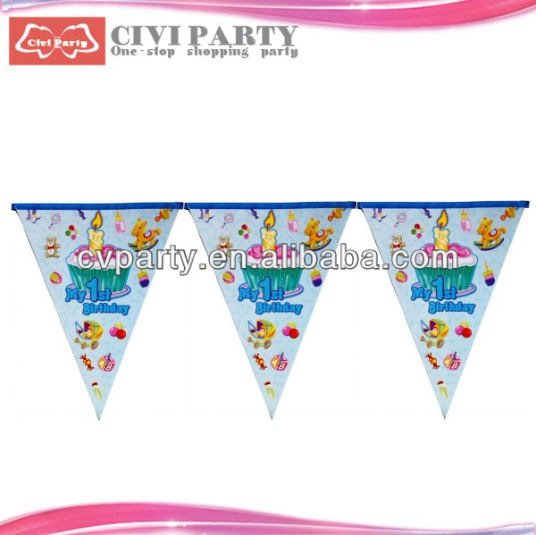 paper Colorful Flag Banner for Birthday Party flag of the united nations
