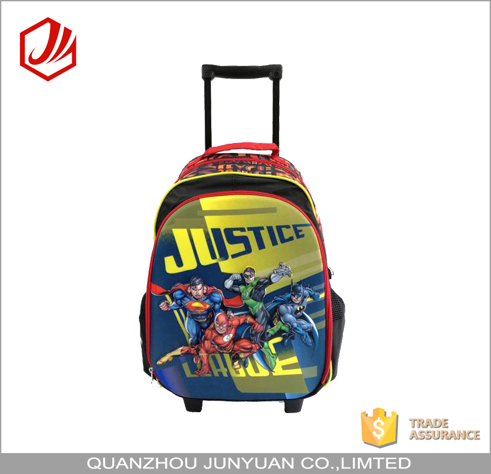 Quality Cartoon PVC Trolley School Backpack For Boy