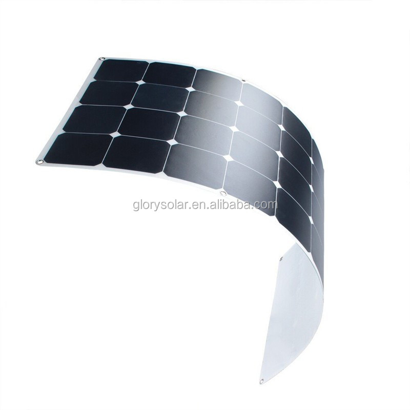 100w Semi Flexible Solar Panel 48v Solar Panel For Boat