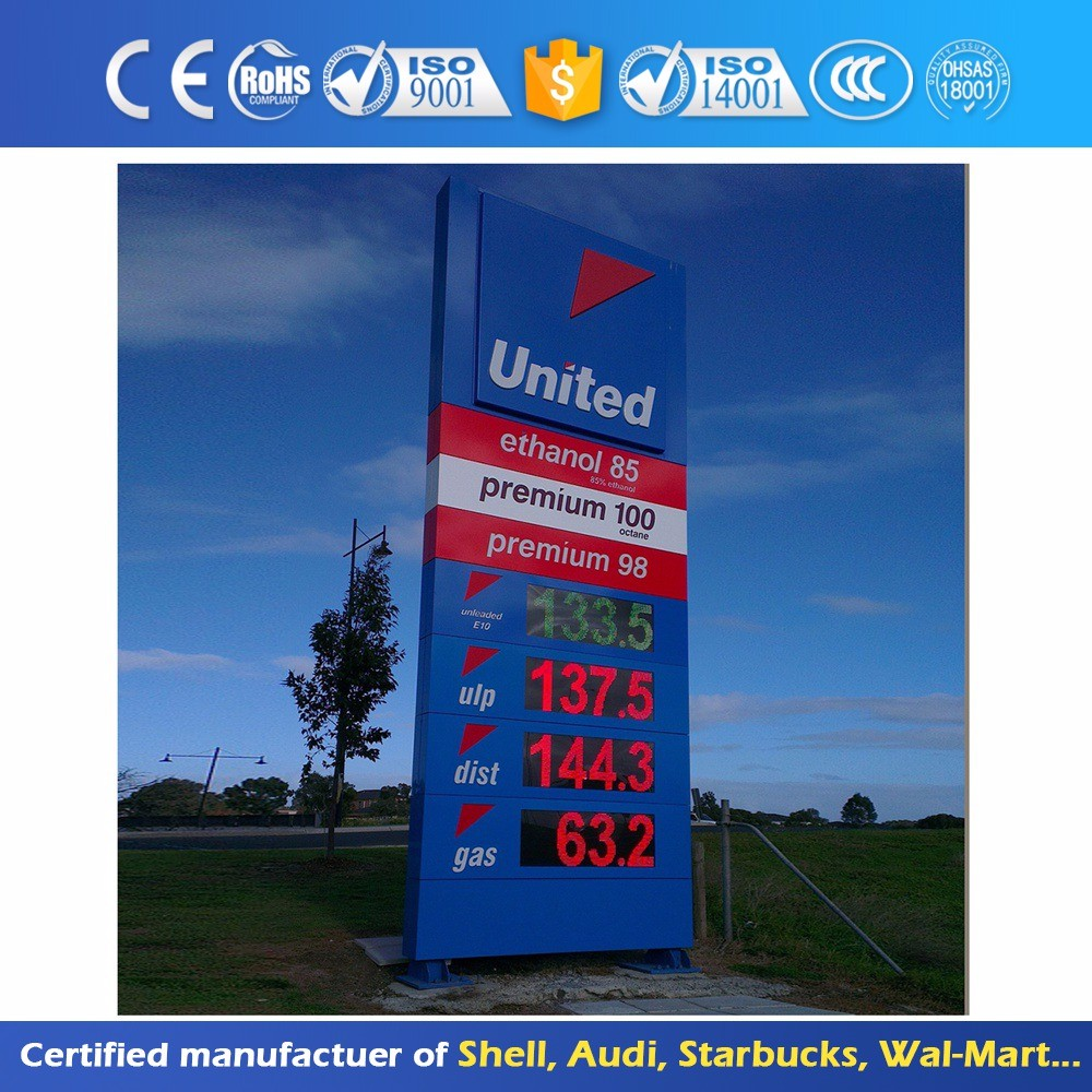 Outdoor Advertising Logo Totem P10 Full Color Outdoor Led Display