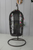 antique high back rattan hanging chair wicker garden chair
