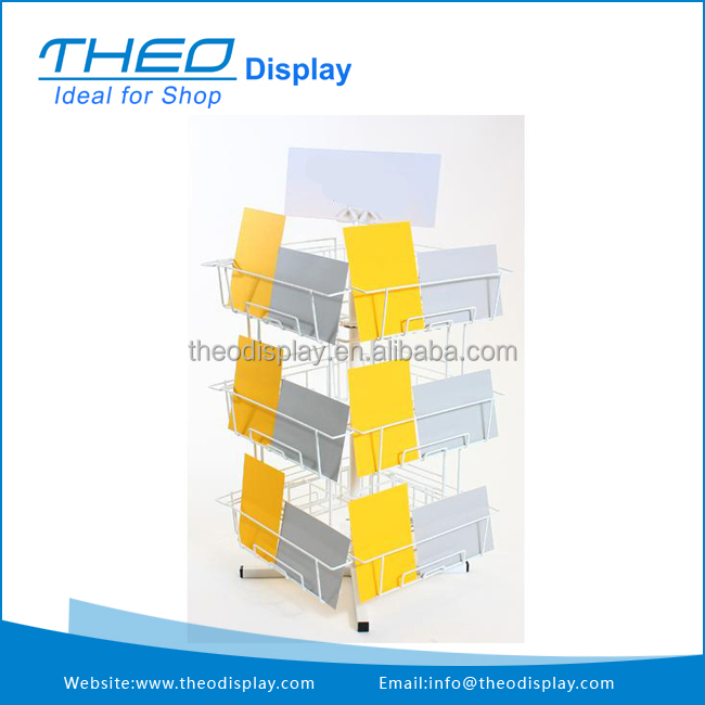 Top quality Mobile Adjustable Counter Greeting Card Display