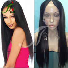 8A Unprocessed Indian Virgin Cheap Silky Straight U Part Wigs Human Hair V Part Wig for African Americans