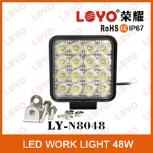High Performance DC9-32V IP68 48w led worklight for Motorbike,ATV with ODM/OEM service