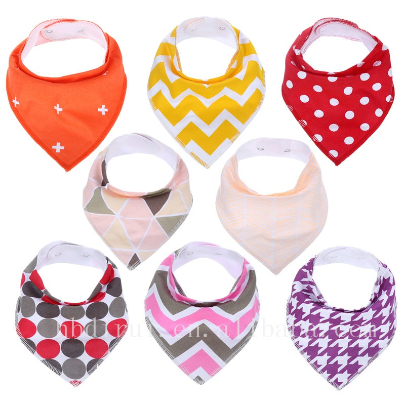 Unique design and high quality baby bibs cotton baby bandana bibs