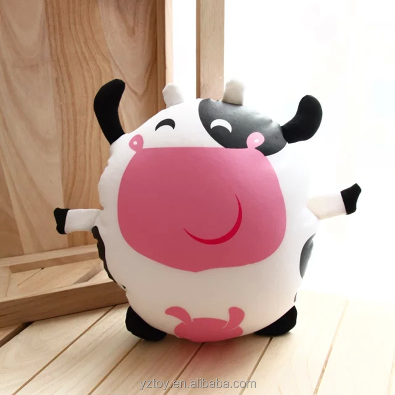 Cow doll, plush toys, cartoon foam particles, containing active charcoal bag, in addition to smell, the new car.