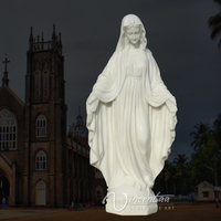 outdoor graden decoration stone carving virgin mary marble statue