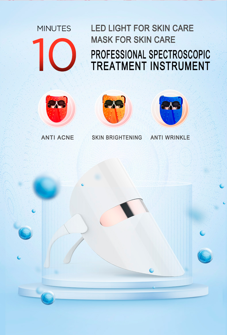 2018 new inventions LED mask home use led light therapy mask skin rejuvenation whitening three Colors Red&Blue &Orange Light