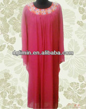 2013 Muslimah Jubah With 2 Layers Composite Silk Design