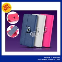 "5"" inch Leather Case Universal Rotating Wallet Case"