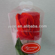 towel gift rose