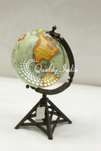 Small Stylish World Globe With Pyramid Style Stand