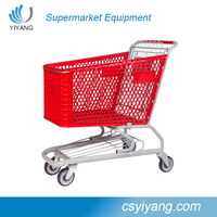 top popularity supermarket folding chair plastic shopping cart