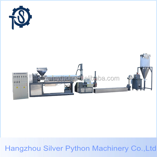 granules plastic pelleting extrusion machine